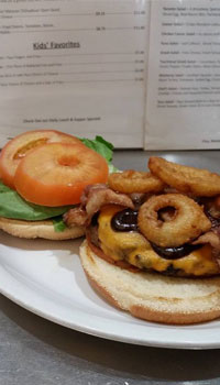 burger onion ring tomato lettuce menu